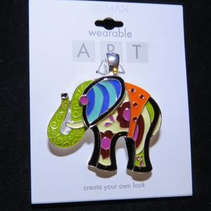 Colorful elephant pendant